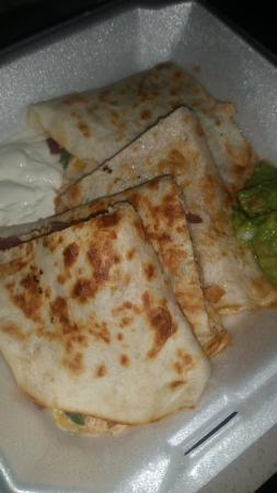 "Guadalajara Grill: Am I wrong to want BBQ sauce on my ""BBQ QUESADILLAS"""