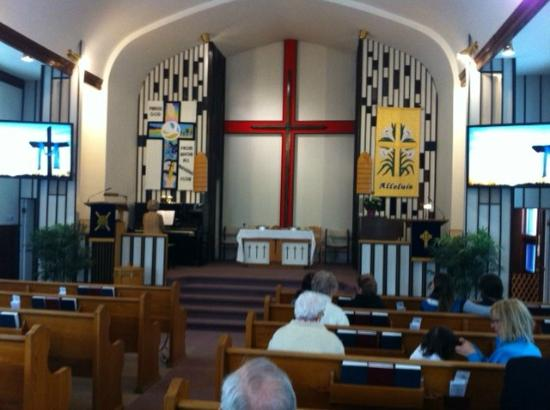 St. Paul's Presbyterian Church: Decorated for Easter Sunday