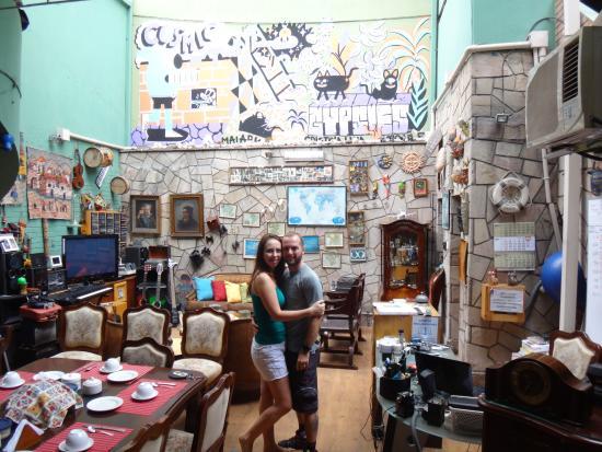 Miraflores House: Área Convivência Hostel