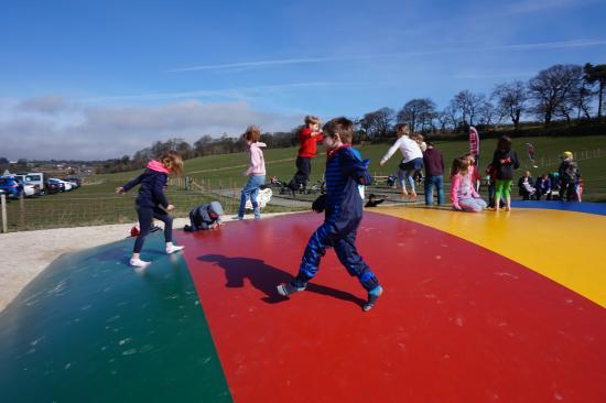 Wellsfield Farm Park: Bouncing away