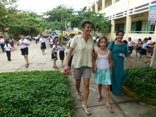 Hoi An NGO Homestay: at Phudong primary school