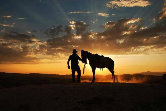 Ortahisar, Turkey: Beautiful sunset riding