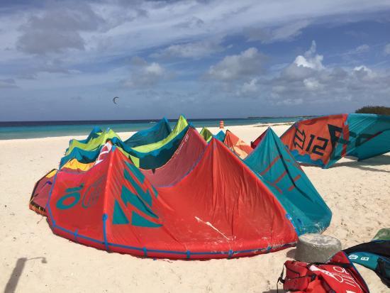 Kiteboarding Bonaire: Schirmdepot
