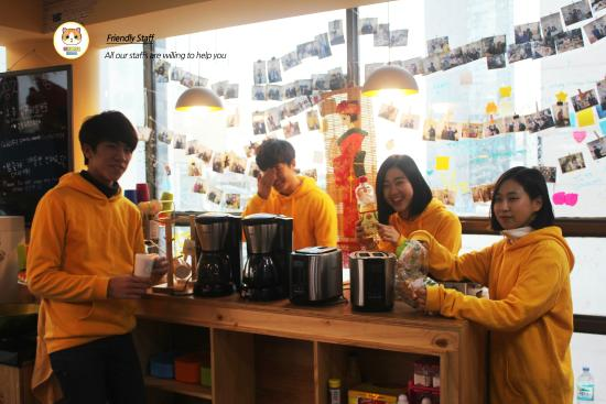 HiKorea Hostel Beaksajang : Friendly Staff