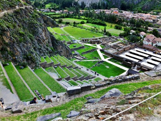 Templo de Ollantaytambo: Topdown view of the Citadel