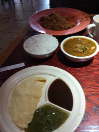Teji's Indian Restaurant & Grocery: My Curry and Biryani..lots of food.