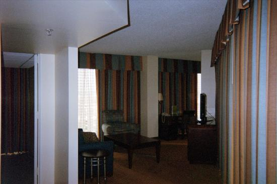 """DoubleTree by Hilton Hotel Houston Downtown: Peeking into the main area - decor is a bit """"dated"""""""