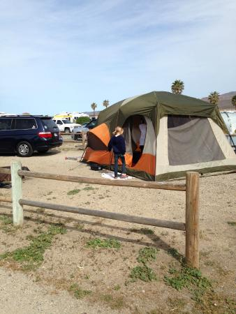 Jalama Beach County Park: Campsite 28 - lots of space