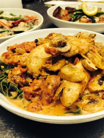 Pasta Fresca: Trio of dishes about to make their way to hungry patrons