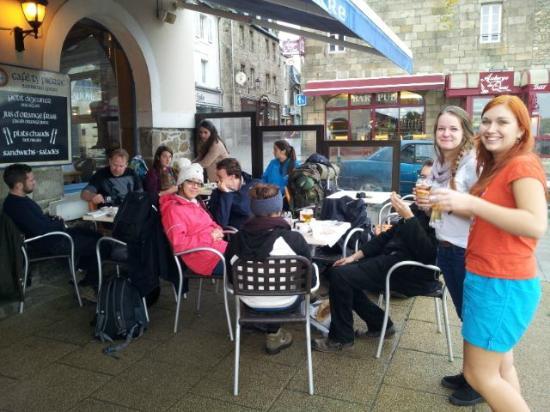 Cafe Ty Pierre Roscoff : Terasse mit Hafenblick