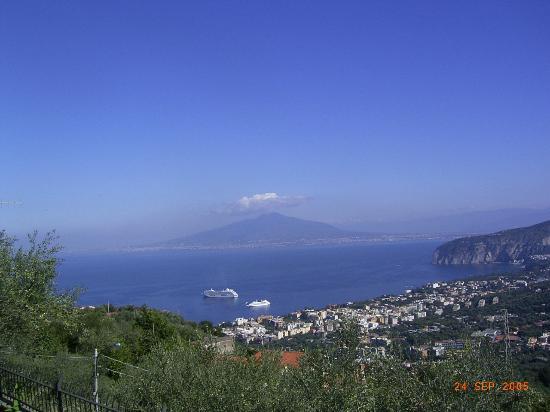 Hotel Delle Palme: View of Vesuvius