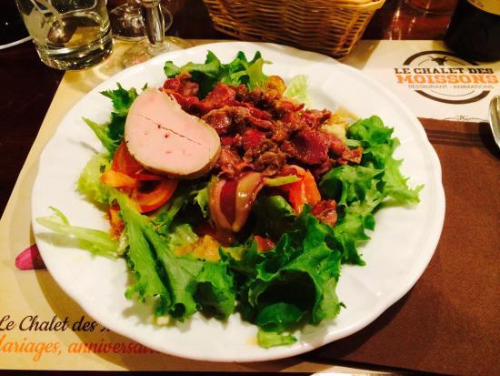 Le Chalet des moissons: salade chalet