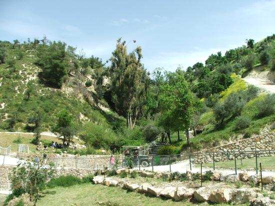Safed, İsrail: Looking up from the lower level.