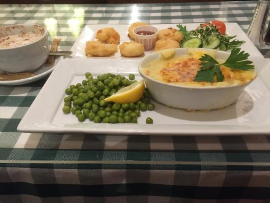 Golden Grid : Tiger Prawn and Fish pie.Fabulous!