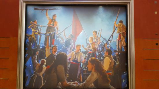 """Sydney Interactive Theatre: Enlarged photo of """" Les Miz """" hanged on the wall inside Capital Theatre, Sydney"""