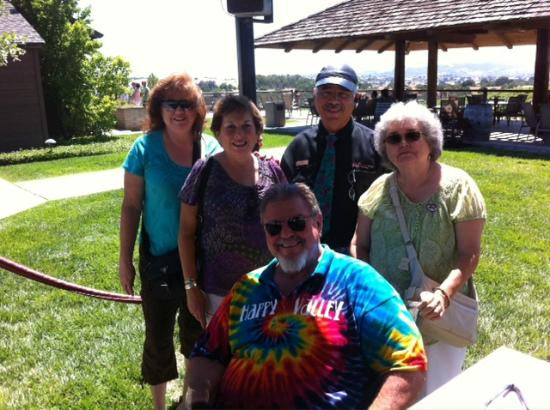 San Luis Obispo, CA: Gary Eberle and new friends, Eberle Winery, Paso Robles