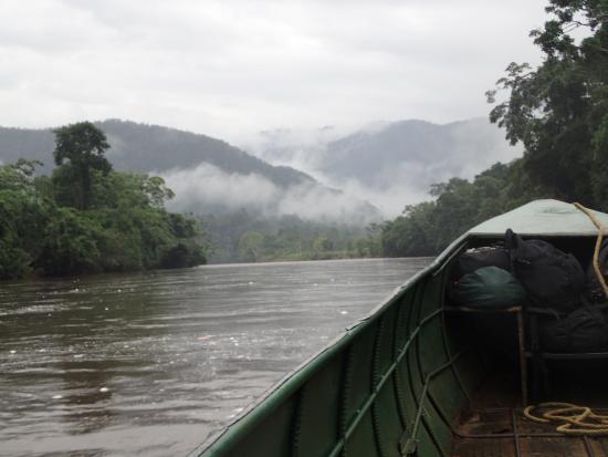 Yankuam Lodge: lodge boat