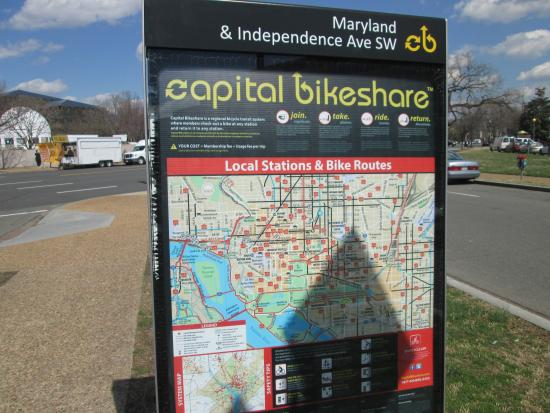 Dc Bike Share Map Station map of all the bike share locations.   Picture of Capital