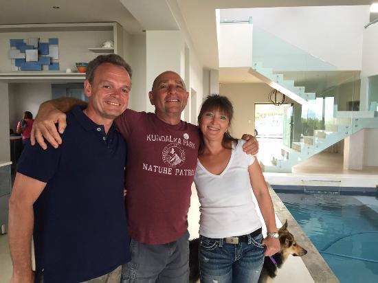 Ibitshi Guest Lodge Wilderness : Wir mit unserem herzlichen Gastgeber Michael