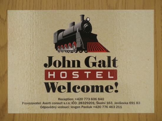 Hostel John Galt: Вывеска