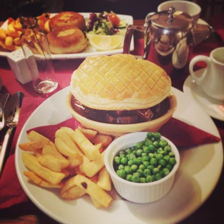 Restaurant at Harry's Aberystwyth: grilled beef and fish pie