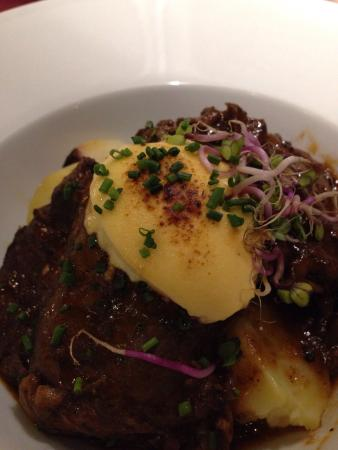 La Azotea: Braised pork cheeks with goats cheese. So good, tender and ...