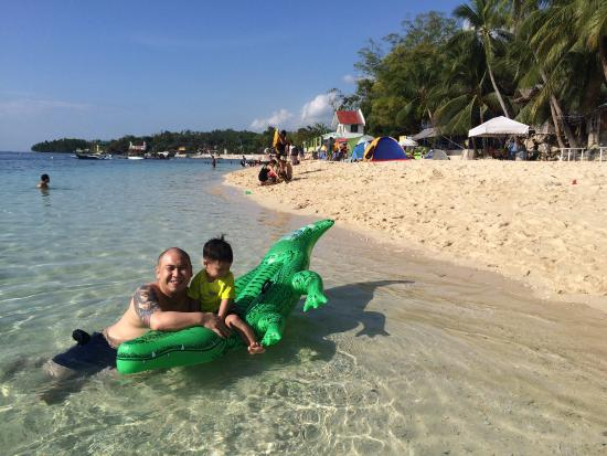 Voda Krasna Beach Resort Father And Son In The Powdery White Sand