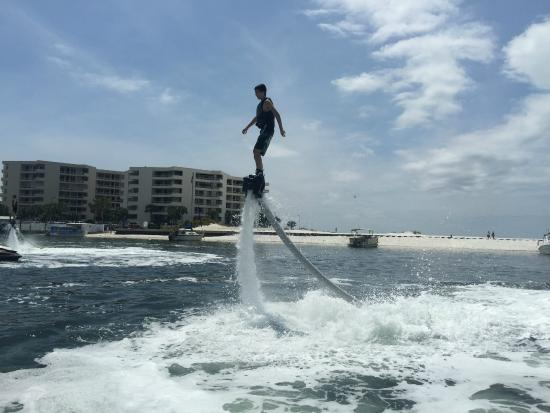 Power Up Watersports: 15 year old twisting and turning as he Fly Boards
