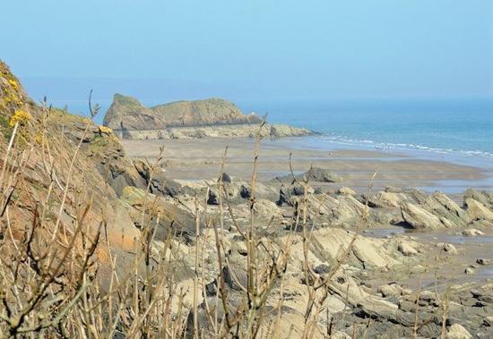 Pen Coed B&B : Overlooking Monkstone Point and beach