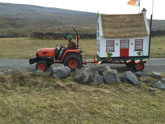 Ballyvaughan Lodge: One of the Floats in Local St. Patty's Day Parade