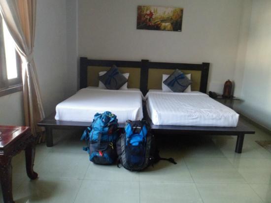 Faifoo Boutique Hotel: 2 lits bien larges pour nous accueillir
