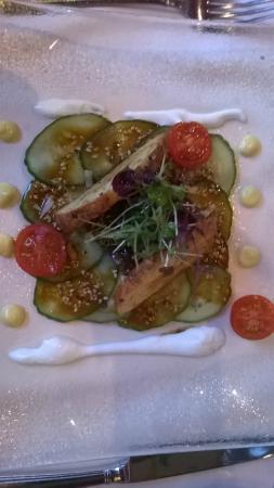 Land & Golf Hotel Stromberg: An excellent starter in the restaurant