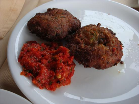 Meteoron Panorama : Zucchini croquette with harrissa (comes with 4, we ate 2)