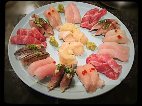 Kingston, NY: Toro, mackerel, giant clam and yellow tail
