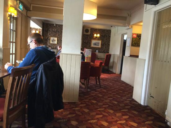 Bletchley, UK: Dining area at the front of the pub
