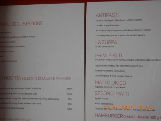 Filottrano, Italie: il menù