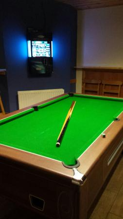 The Derg Arms: Pool table in games area