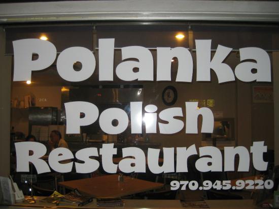 Polanka: restaurant window
