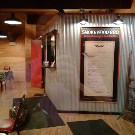 Smokewood BBQ: Only Menu in the restaurant