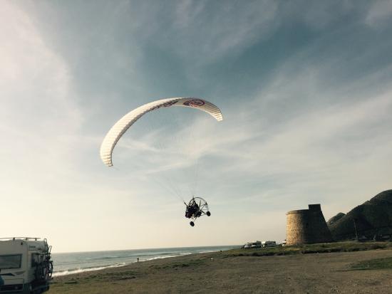 Huercal-Overa, Španělsko: Vuelo en macenas Mojacar playa