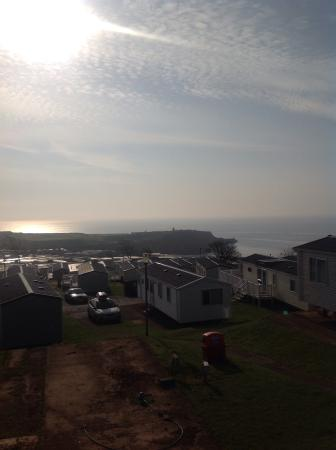Devon Cliffs Holiday Park - Haven: The site-lots of caravans all very close to one another.