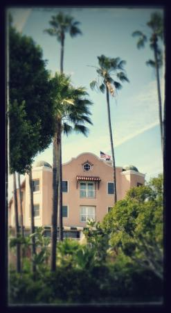 Famous Beverly Hills Hotel from the park - the part of the hotel from the Hotel California Album