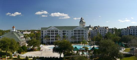 Grande Villas at World Golf Village: panoramic view of  the Grande Villas and the World hall of golf