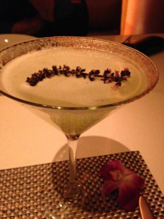 Andrea's : Yummy cocktail with burnt basil