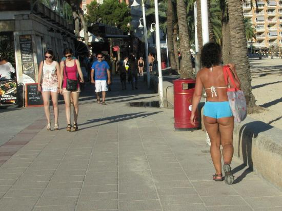 Magaluf beach side walkway