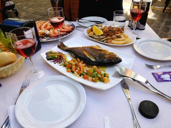 Seafood and fish at Meson Criollo