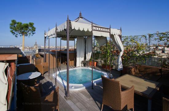 Terrasse du spa photo de intercontinental bordeaux le for Location bordeaux terrasse