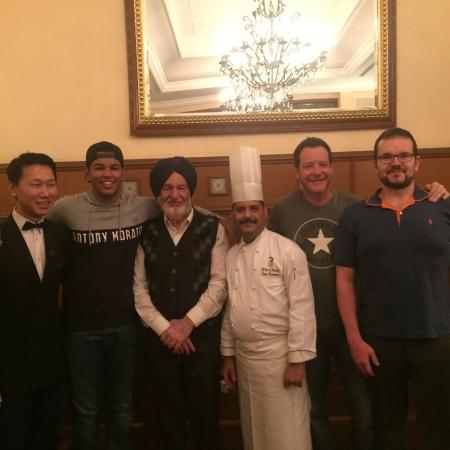 Me My Grandfather My Two Uncles The Chef Raj And The Manager
