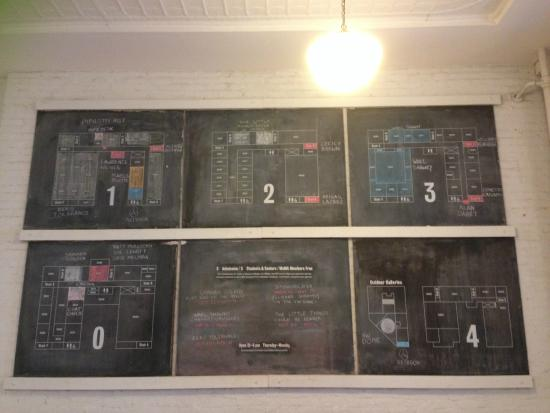 MoMA PS1: Chalkboard Floor Plan (so cute!!)