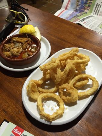 Taberna Zas: Calamares y zamburiñas